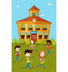 Back to school education kids cartoon vector image vector image