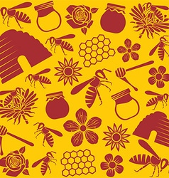 Beer pattern design vector image vector image