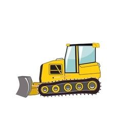 Bulldozer Major Construction vector image