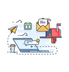 mail marketing mailing to e-mail vector image