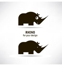 Rhino icon vector image vector image