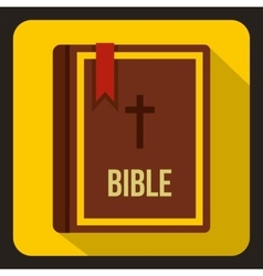 Bible icon in flat style vector image