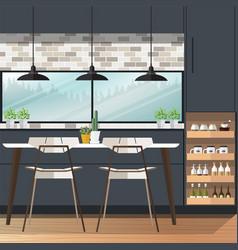 Dining room design vector