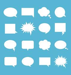 empty talk bubble set vector image vector image