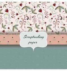 floral scrap booking paper vector image