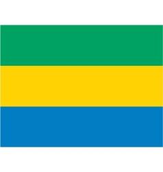 Gabon flag vector image vector image
