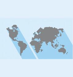 geometric map world vector image