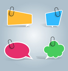 speech bubbles pin clip icon dialog box info vector image vector image