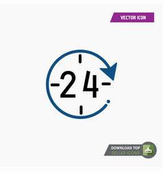 24-7 icon vector