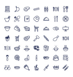 49 dinner icons vector