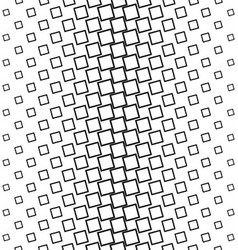 Abstract black and white square pattern background vector image