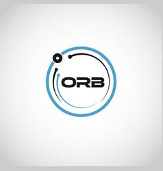 abstract blue circle technology logo sign symbol vector image