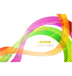 Abstract colors lines shape scene vector