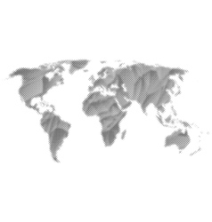 Abstract monochrome world map vector