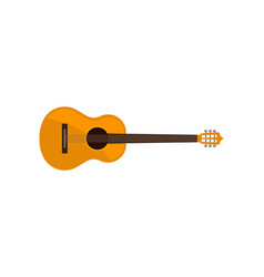 acoustic guitar classical musical instrument vector image