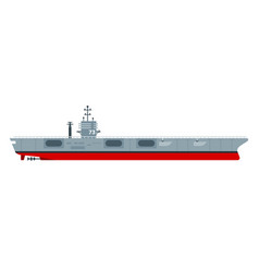 aircraft carrier flat icon vector image