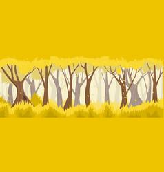 autumn forest backround vector image