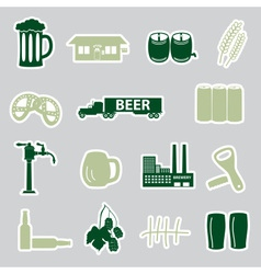 Beer stickers set eps10 vector