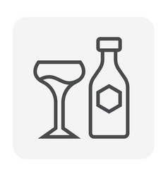 beverage icon black vector image