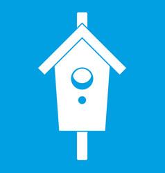 birdhouse icon white vector image