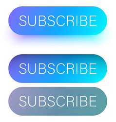 Blue subscribe web buttons isolated on white vector