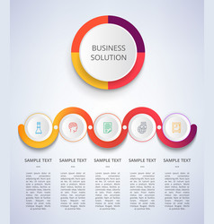 business solution color poster vector image