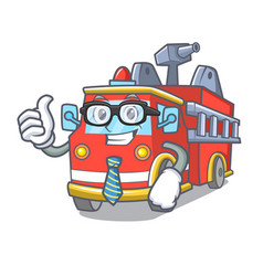 businessman fire truck character cartoon vector image
