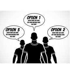 businessman option template step ranking 2 vector image