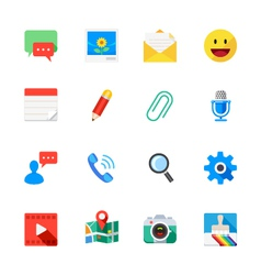 Chat Icons of Application vector image