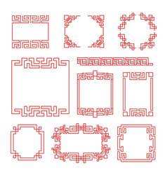 chinese frames asian new year decorative vector image
