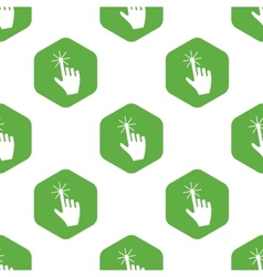 Clicking hand pattern vector