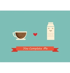 Coffee and milk best friends vector