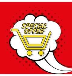 Colorful design of Special Offer vector