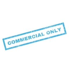 Commercial Only Rubber Stamp vector