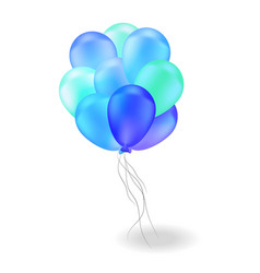 composition of blue ballons vector image