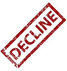 Decline rubber stamp vector