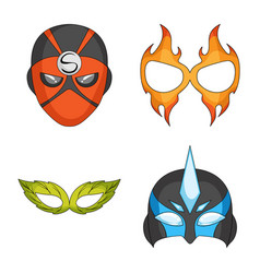 Design of hero and mask logo collection of vector