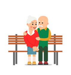 elderly lone man sits on edge of bench and looks vector image