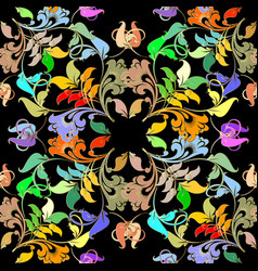 elegance colorful floral seamless pattern vector image