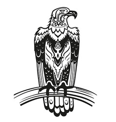 Ethnic ornamented eagle vector