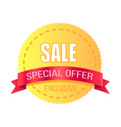 Exclusive special offer sale promotion poster vector