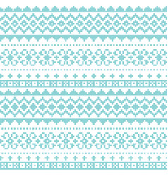fair isle knittting seamless pattern vector image