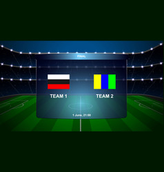 football scoreboard broadcast graphic vector image