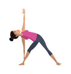 girl and yoga design vector image