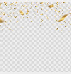 gold shiny confetti golden falling serpentine vector image
