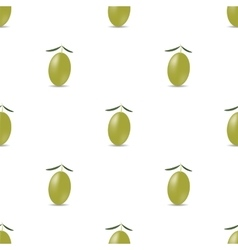 Green Olives Seamless Pattern vector image