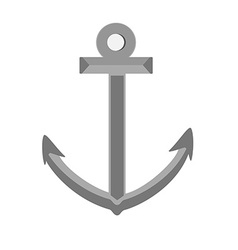 Grey anchor vector image