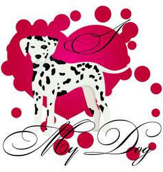 i love my dalmatian vector image