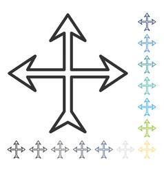 Intersection arrows icon vector