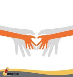 Love shape hand vector image